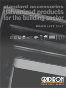 Standard accessories - Galvanized products for the building sector
