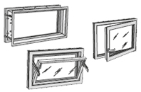 Polyester frames and windows